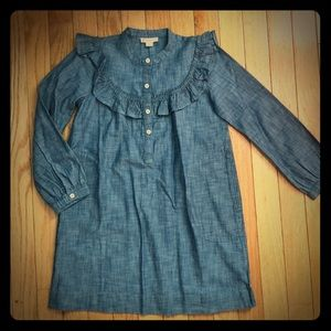 "NWT ""Denim"" Ruffle Dress"